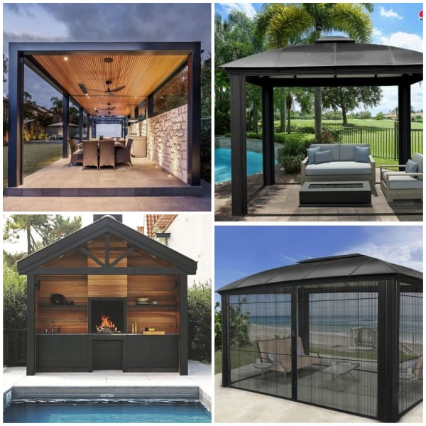 Poolside Pavillion Ideas- Black Paviillion