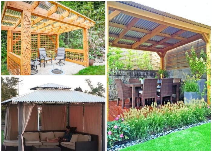 Gazebos with Iron Roofing