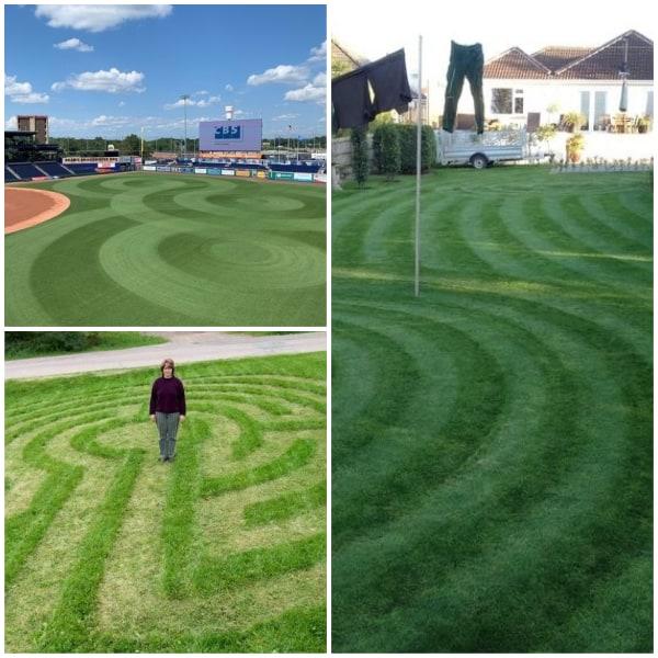 Crop Circle Pattern Lawn Stripes