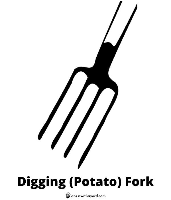 Illustration of Digging (Potato) Fork