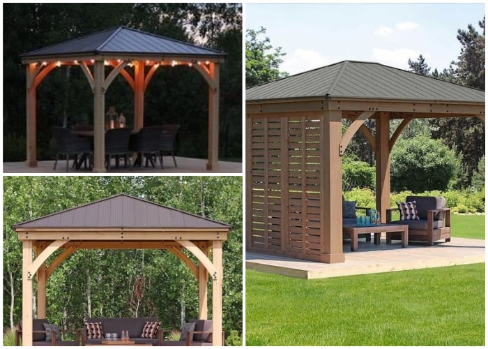 Gazebos with 4-sided Roof