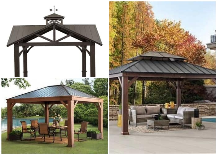 Gazebos with Galvalume Roofing