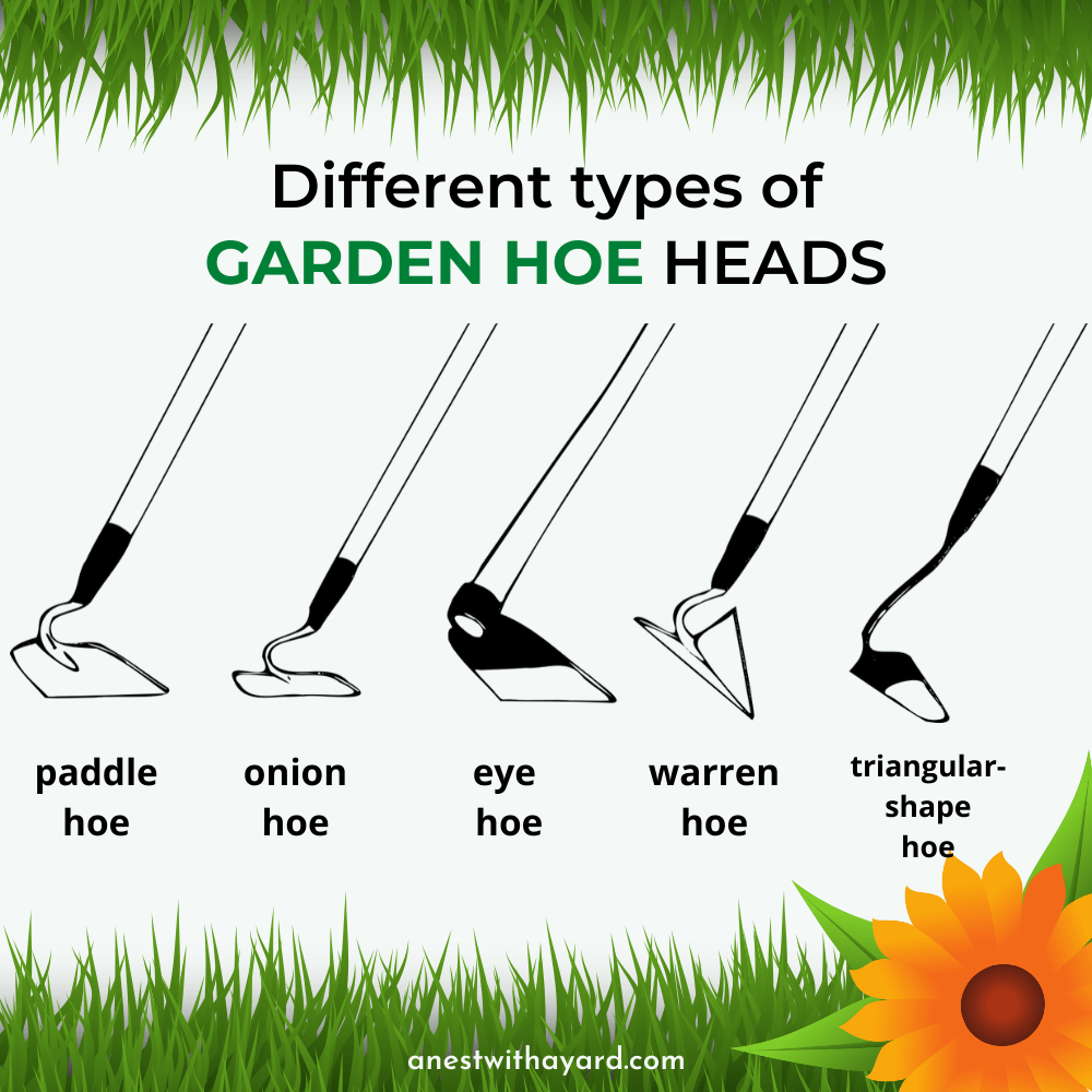 Garden hoe head types