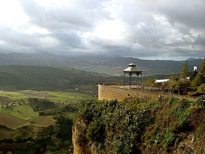 A Gazebo On A Plateau With a Beautiful View