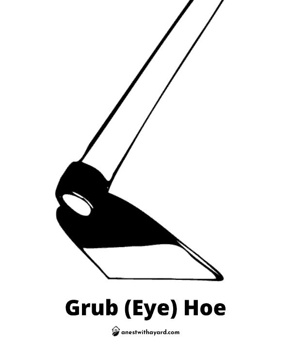 Illustration of a Grub (Eye) Hoe