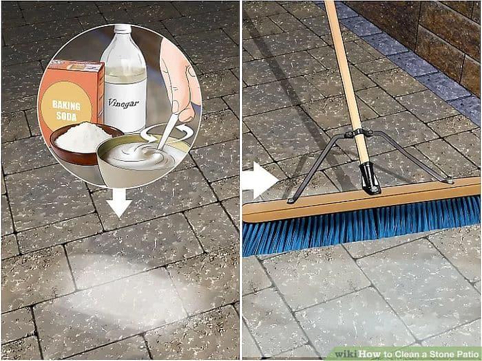 How to Clean a Concrete Patio- Scrub