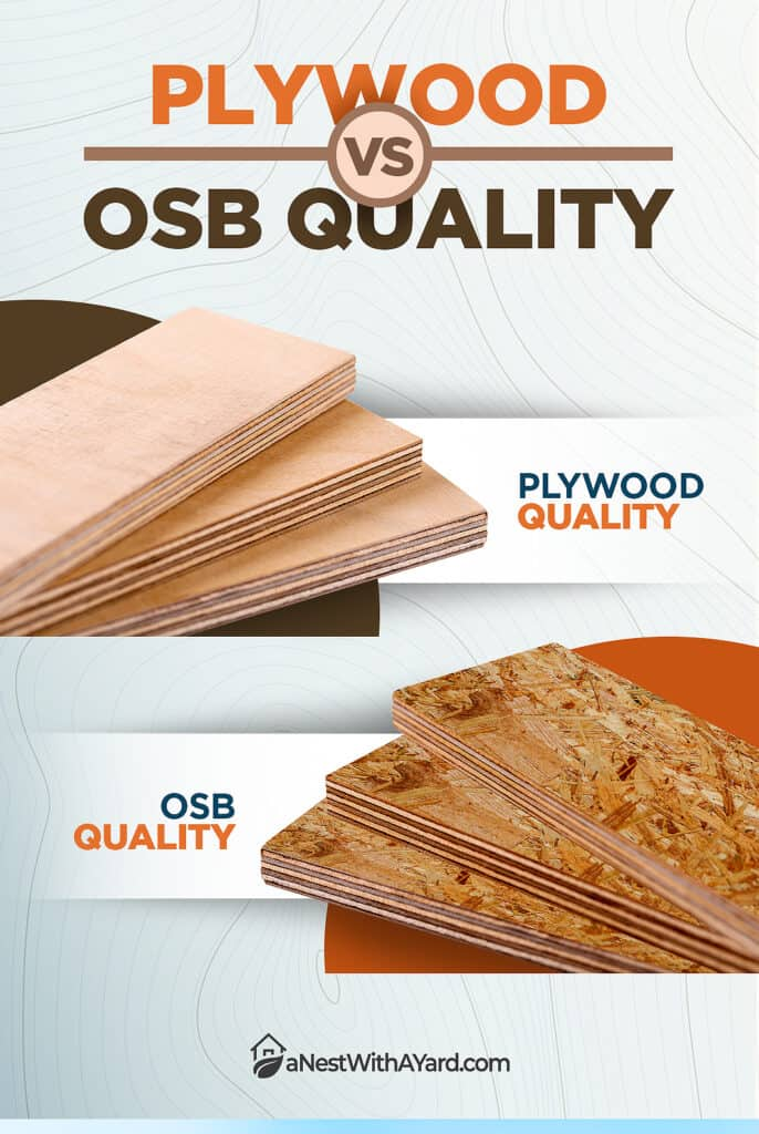 Plywood vs OSB Quality- 2 types of T1-11 siding panel