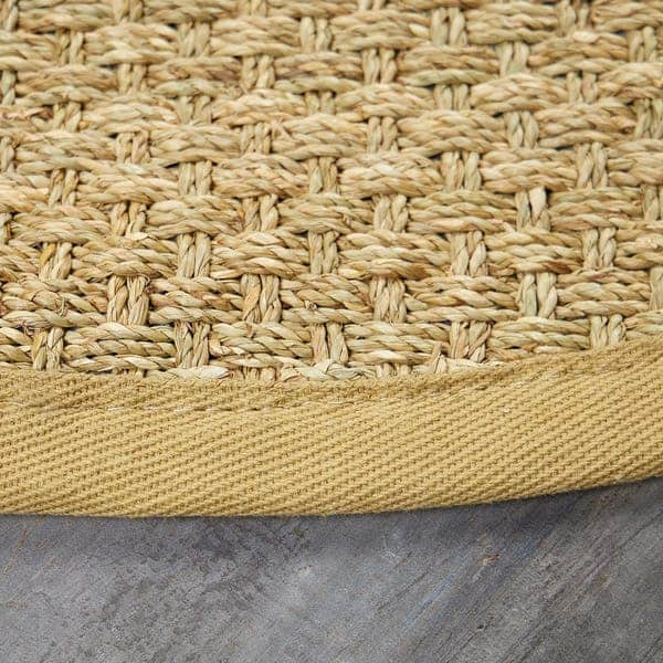 Seagrass material for outdoor rug