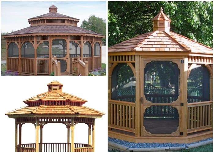Gazebos with Octagon Roof