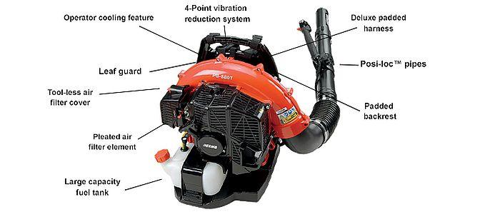 A diagram Echo leaf blower parts