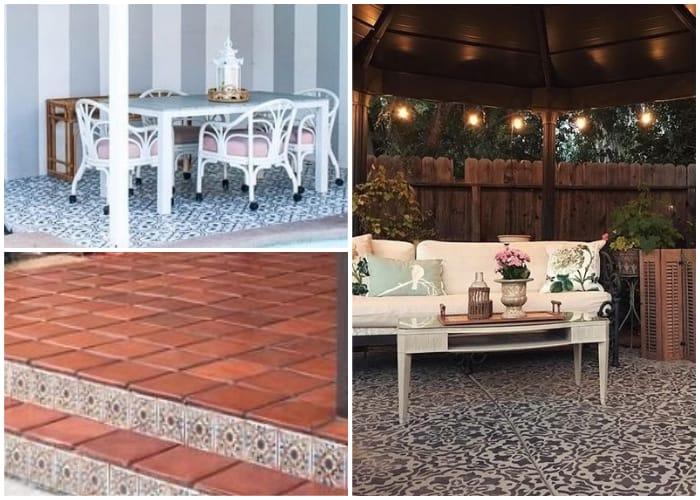 Pavers and Tiles Flooring for Gazebo