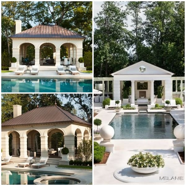 Poolside Pavillion Ideas- Roman Pillar Style Pavillion