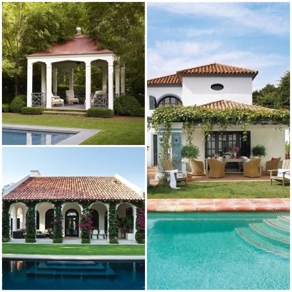 Poolside Pavillion Ideas- Vine-coverd Paviillion