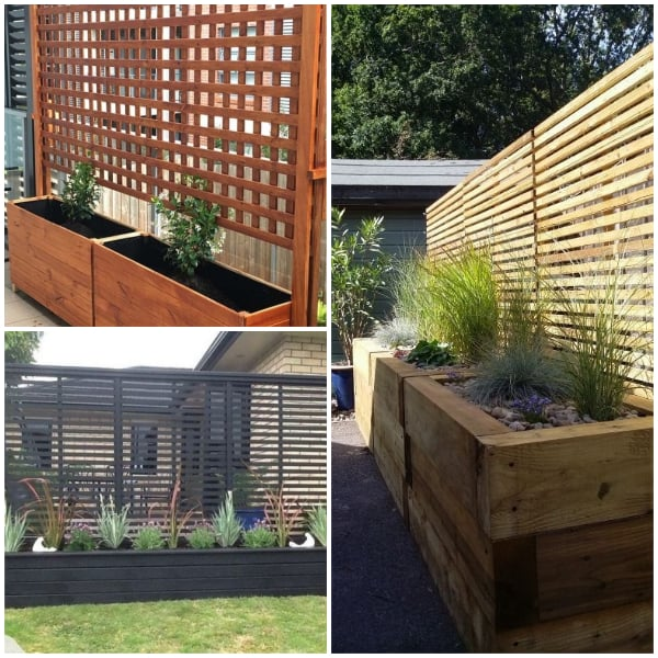 Privacy Planters Patio Wall