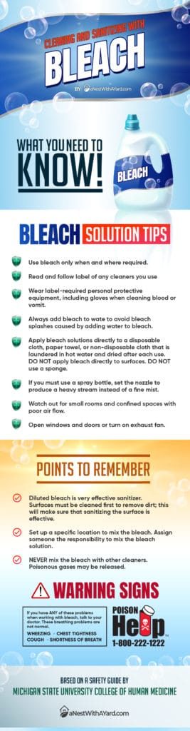 Protect Your Lawn And Yourself Bleach infographic large