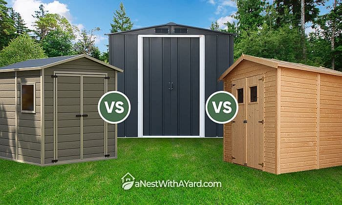 Resin Vs Wood Vs Metal Sheds: Which To Choose?