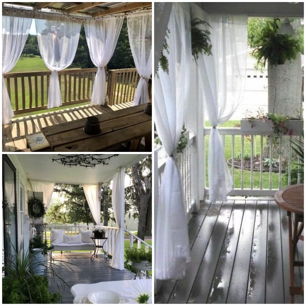 Sheer Screen Curtains for Porch