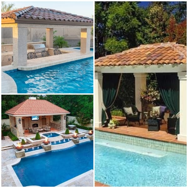 Poolside Pavillion Ideas- Tiled Roof Pavillion