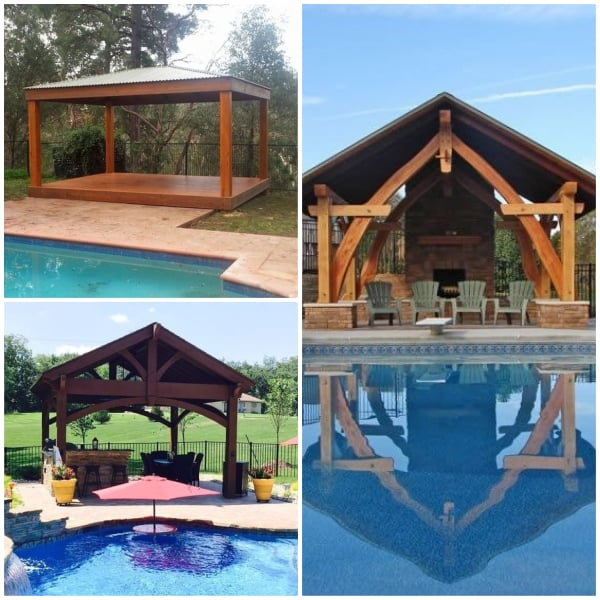 Poolside Pavillion Ideas- Wood Paviillion