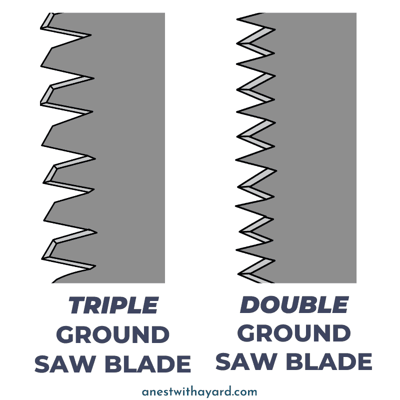 Triple vs double ground saw blade #saw #gardenTools #treePruning #treeCare #TreeRemoval #backyardLandscaping #landscaping