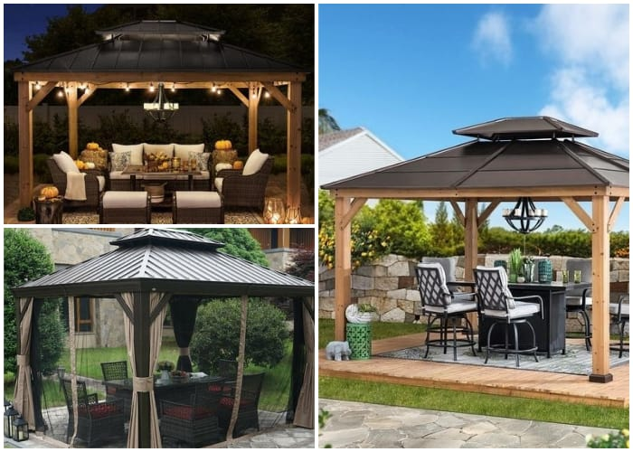 Two-tiered roof Gazebo