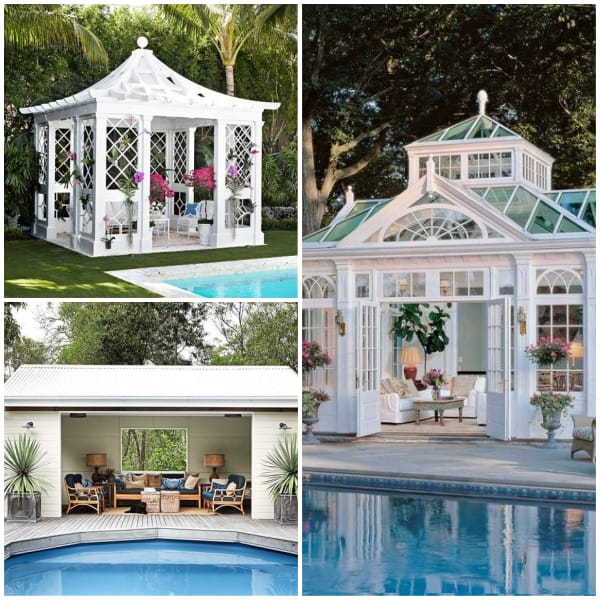 Poolside Pavillion Ideas- White Paviillion