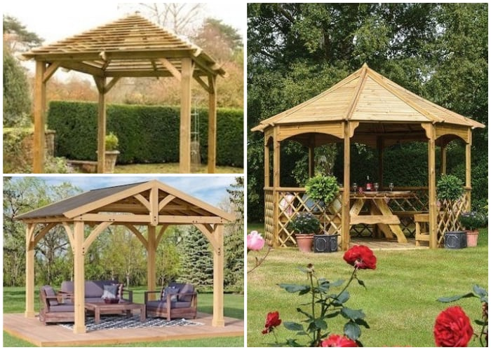 Gazebos with Wooden Roofing