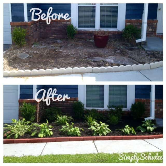 A flowerbed need not be costly