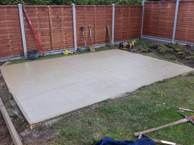 foundation for building a gazebo or pavilion