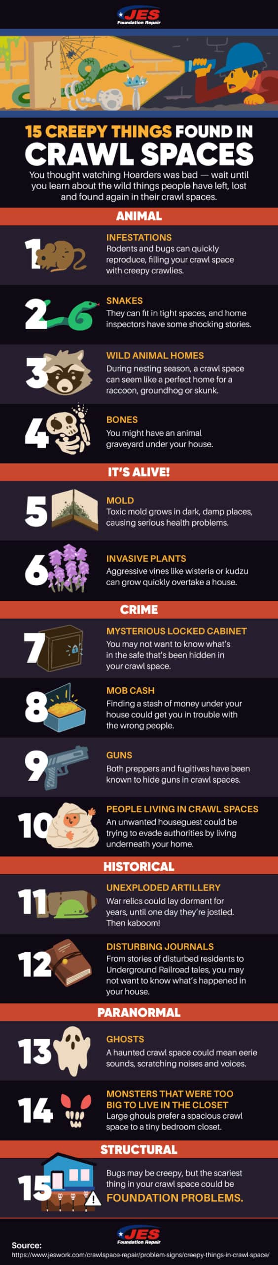 The 15 Best Reasons to Inspect Your Crawl Space Now