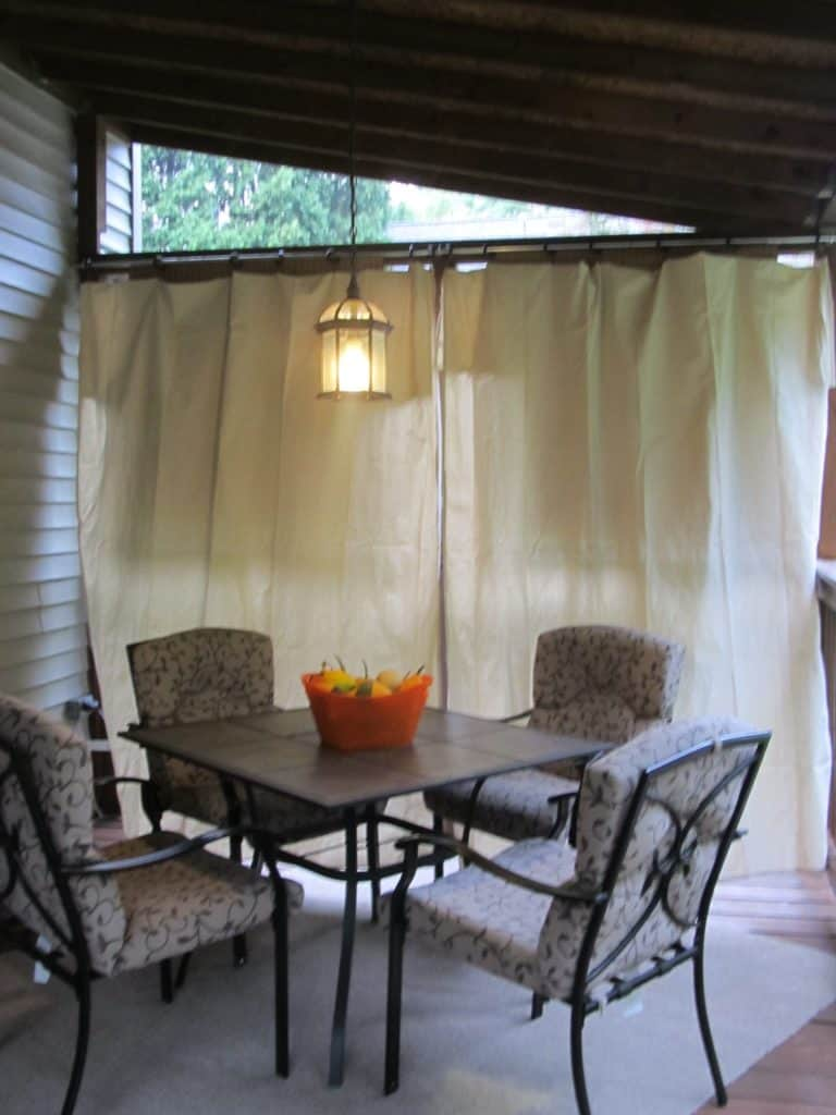 Clip drapes together