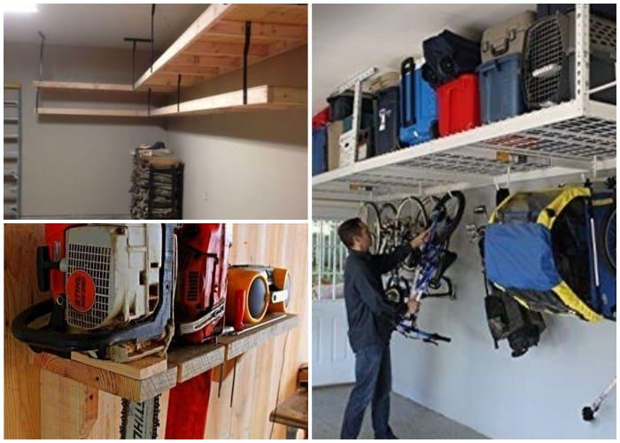 Lawn Mower Storage in Ceiling