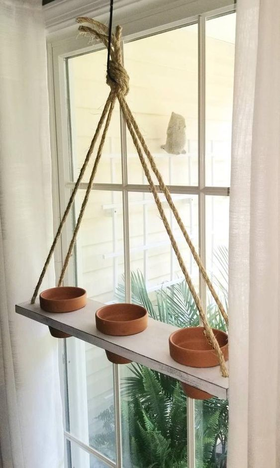 Vertical herb garden near a window on a shelf  #indoorHerbGarden #indoorGardenIdeas #indoorgardendesigns #indoorgardenapartment #apartmentindoorgarden #apartmentgardening