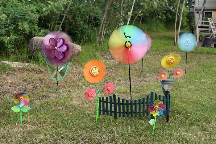 Pinwheels in the yard