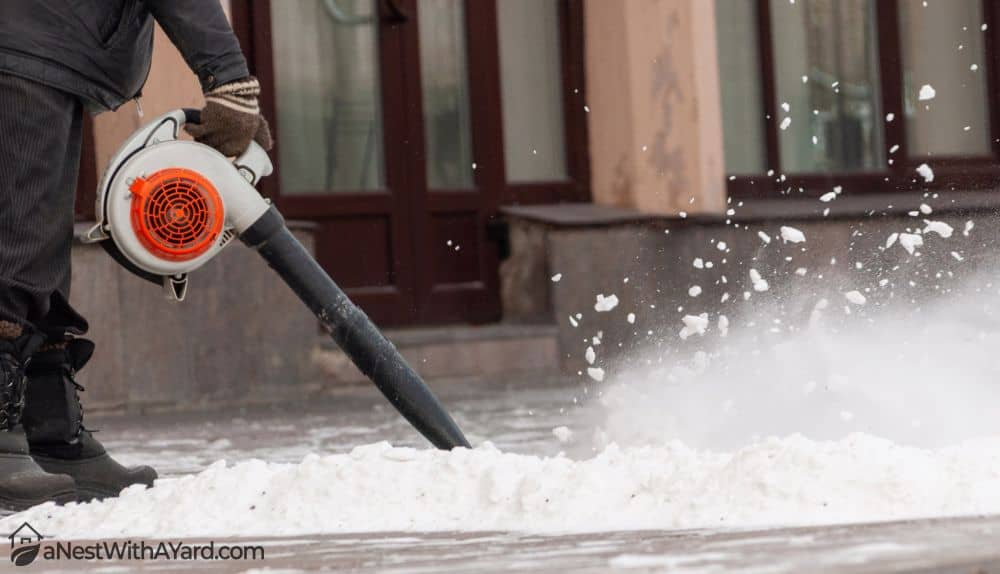 Can You Use A Leaf Blower For Snow Removal? Leaf Blowers Vs Snow Blowers