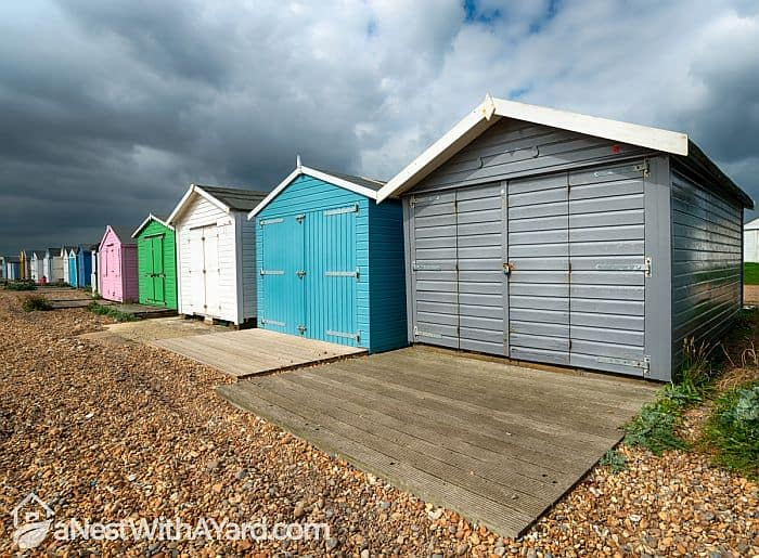 colorful metal sheds