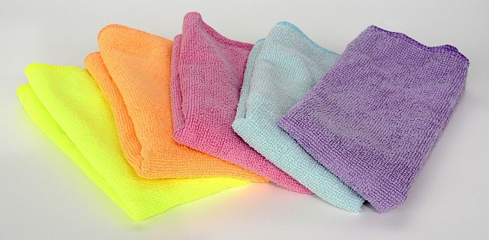 A set of colorful dry towels