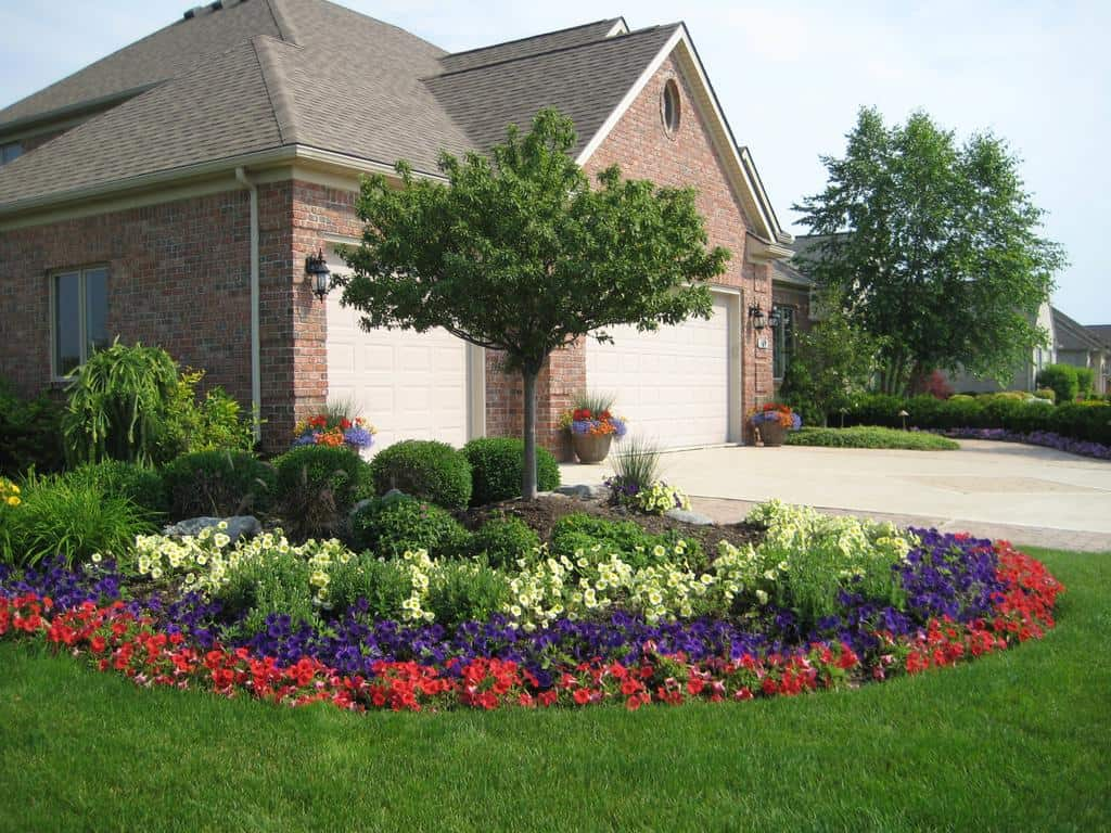Flowerbed in the front yard