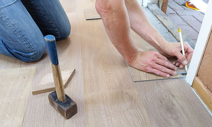 Measuring Door Frames Width To Determine the Length Of Wood Flooring needed to install shed floor