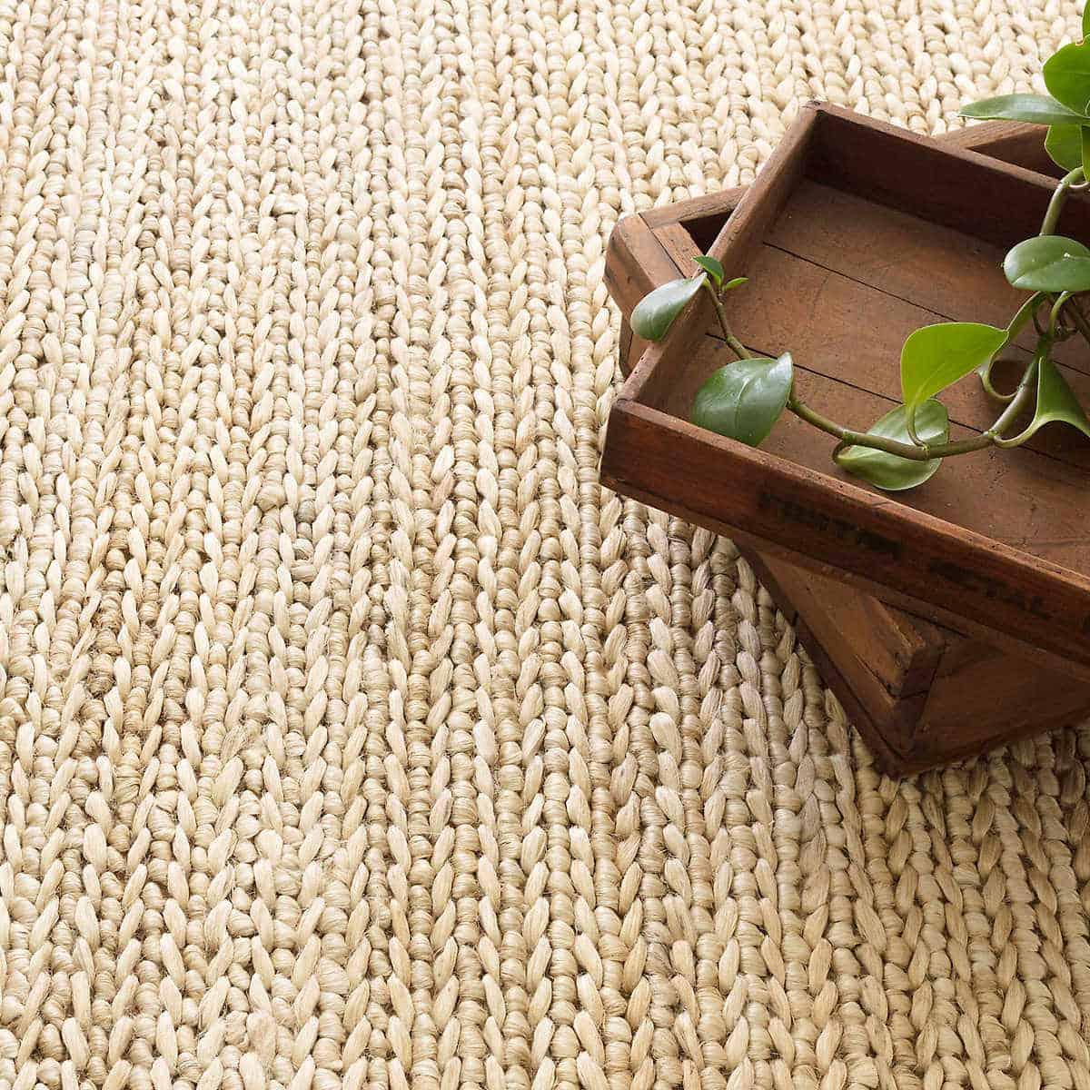 Jute fiber outdoor rug