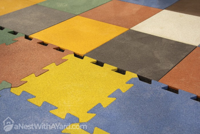 Shed Floor with interlocking tiles