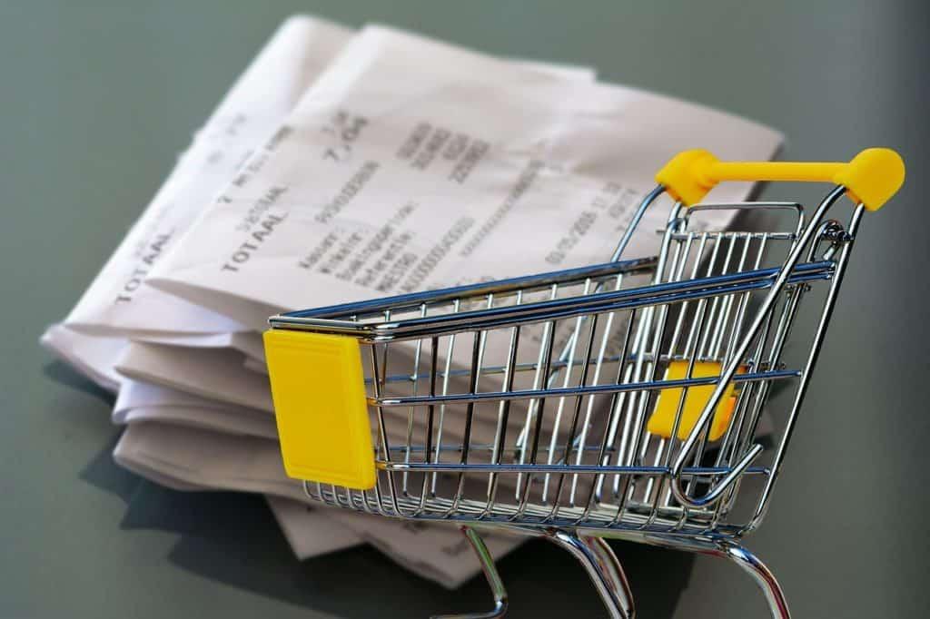 A mountain of receipts