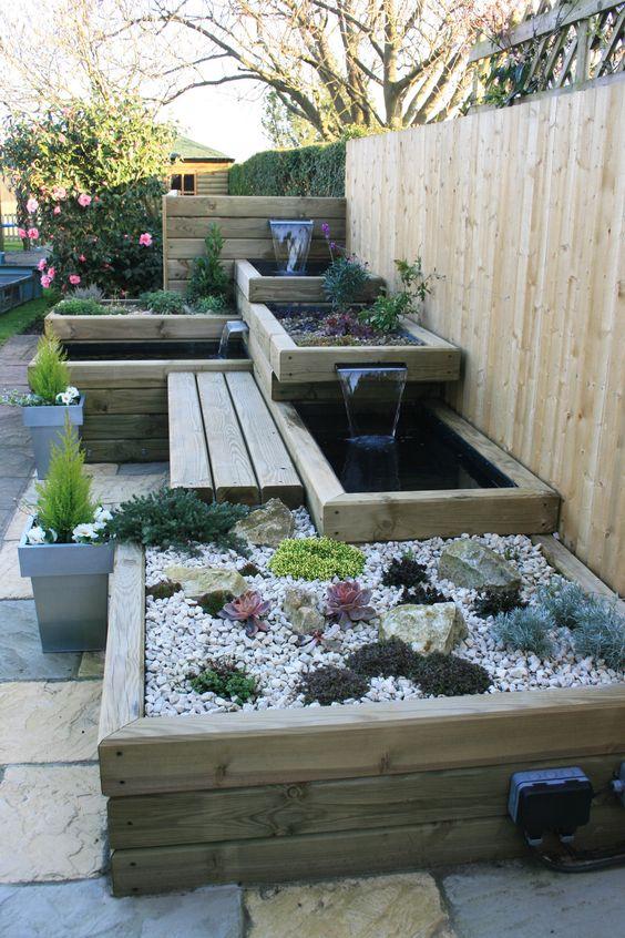 A small garden with multilevel garden beds #fence #smallGarden #SmallGardenDesign #smallyardlandscaping #gardenIdeas #backyardLandscaping #backyardLandscapingIdeas #landscaping