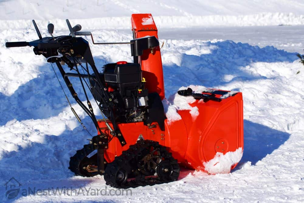 Tracked snow blowers are heavier but more heavy duty as well.
