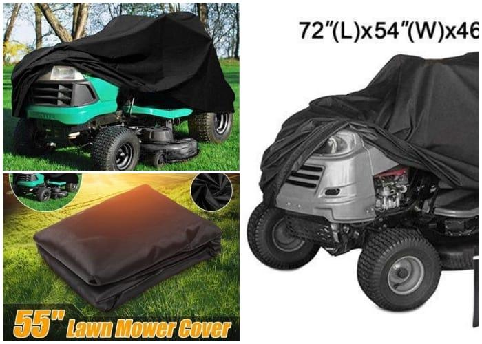 Lawn Mower under a Tarp