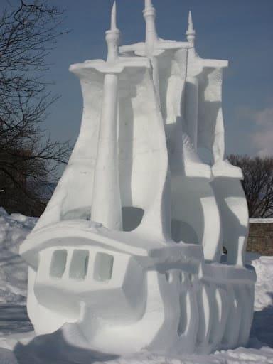 """pirate ship snow sculpture #snowSculpture #snow #winter #sculpture #ship"""""""