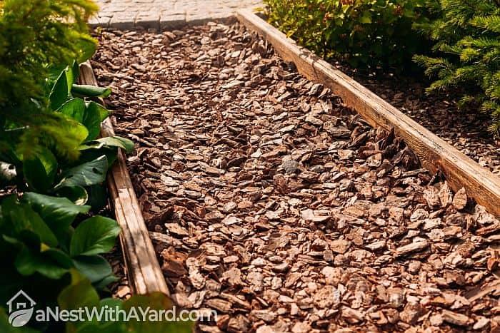 Wood chips walkway