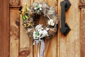 Easter wreath ideas #EasterBunny #easter #frontDoor #frontDoorDecor #frontDoorWreaths #frontDoorWreath #curbAppealProjects #curbAppeal